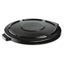Rubbermaid RCP264560BLA Vented Round Brute Lid, 24 1/2 X 1 1/2, Black