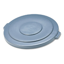 Rubbermaid RCP265400GY Round Flat Top Lid, For 55-Gallon Round Brute Containers, 26 3/4