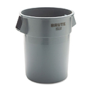 Rubbermaid RCP265500GY Round Brute Container, Plastic, 55 Gal, Gray