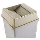 Rubbermaid RCP2664BEI Untouchable Square Swing Top Lid, Plastic, 20 1/8 X 20 1/8 X 6 1/4, Beige
