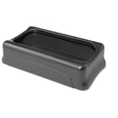 Rubbermaid RCP267360BK Swing Top Lid For Slim Jim Waste Containers, 11 3/8 X 20 3/8, Plastic, Black