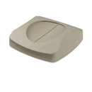 Rubbermaid RCP268988GRA Untouchable Square Swing Top Lid, 16 X 16 X 4, Gray