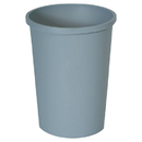 Rubbermaid RCP2947GRA Untouchable Waste Container, Round, Plastic, 11gal, Gray