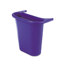 Rubbermaid RCP295073BE Wastebasket Recycling Side Bin, Attaches Inside Or Outside, 4.75qt, Blue