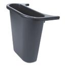 Rubbermaid FG295073BLA Saddle Basket Recycling Bin, Rectangular, Black, 7 1/4