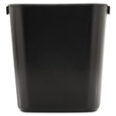 Rubbermaid RCP295500BK Deskside Plastic Wastebasket, Rectangular, 3 1/2 Gal, Black