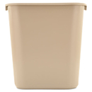 Rubbermaid RCP295600BG Deskside Plastic Wastebasket, Rectangular, 7 Gal, Beige