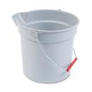 Rubbermaid RCP296300GY 10 Quart Plastic Utility Pail, 10 1/2 Diameter X 10 1/4h, Gray Plastic