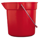 Rubbermaid RCP2963RED Brute Round Utility Pail, 10qt, Red