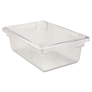 Rubbermaid RCP3309CLE Food/tote Boxes, 3 1/2gal, 18w X 12d X 6h, Clear