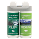 Rubbermaid RCP3485950 Microburst Duet Refills, Alpine Springs/mountain Peaks, 3oz, 4/carton