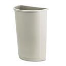 Rubbermaid RCP352000BG Untouchable Waste Container, Half-Round, Plastic, 21gal, Beige