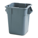 Rubbermaid RCP353600GY Brute Container, Square, Polyethylene, 40gal, Gray