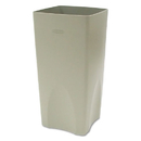 Rubbermaid FG356300BEIG Plaza Waste Container Rigid Liner, Square, Plastic, 19gal, Beige