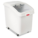Rubbermaid FG360388WHT ProSave Mobile Ingredient Bin, 30.86gal, 18w x 29 3/4d x 28h, White