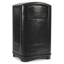 Rubbermaid FG396400BLA Plaza Indoor/Outdoor Waste Container, Rectangular, Plastic, 50 gal, Black