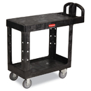 Rubbermaid RCP450500BK Flat Shelf Utility Cart, Two-Shelf, 19-3/16w X 37-7/8d X 33-1/3h, Black