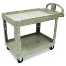 Rubbermaid RCP452088BG Heavy-Duty Utility Cart, Two-Shelf, 25 1/4w X 44d X 39h, Beige