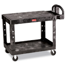 Rubbermaid RCP452500BK Flat Shelf Utility Cart, Two-Shelf, 25-1/4w X 44d X 38-1/8h, Black