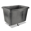Rubbermaid FG461900BLA Cube Truck, Rectangular, 600-lb. Cap., Black