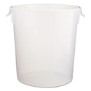Rubbermaid FG572824CLR Round Storage Containers, Clear, 22qt, 13 1/8