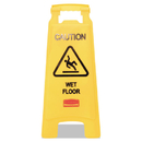 Rubbermaid RCP611277YW Caution Wet Floor