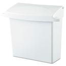 Rubbermaid RCP614000 Sanitary Napkin Receptacle With Rigid Liner, Rectangular, Plastic, White
