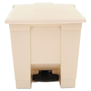 Rubbermaid RCP6143BEI Indoor Utility Step-On Waste Container, Square, Plastic, 8gal, Beige