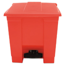 Rubbermaid RCP6143RED Indoor Utility Step-On Waste Container, Square, Plastic, 8gal, Red