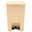 Rubbermaid RCP6144BEI Indoor Utility Step-On Waste Container, Square, Plastic, 12gal, Beige
