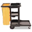 Rubbermaid RCP617388BK Multi-Shelf Cleaning Cart, Three-Shelf, 20w X 45d X 38-1/4h, Black