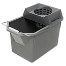Rubbermaid RCP6194STL Pail/strainer Combination, 15qt, Steel Gray