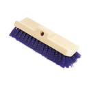 Rubbermaid RCP6337BLU Bi-Level Deck Scrub Brush, Polypropylene Fibers, 10 Plastic Block, Tapered Hole