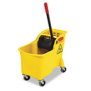 Rubbermaid RCP738000YEL Tandem 31qt Bucket/wringer Combo, Yellow