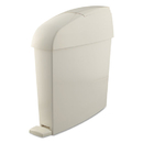 Rubbermaid FG750243 Sanitary Bin, Rectangular, Plastic, 3 gal, White