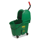 Rubbermaid FG757888GRN WaveBrake Bucket/Wringer Combos, 35 qt, Green