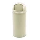Rubbermaid RCP816088BG Marshal Classic Container, Round, Polyethylene, 15gal, Beige