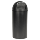 Rubbermaid FG816088BRN Marshal Classic Container, Round, Polyethylene, 15 gal, Brown