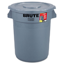 Rubbermaid RCP863292GRA Brute Container All-Inclusive, Round, Plastic, 32gal, Gray