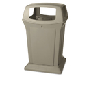 Rubbermaid RCP917388BEI Ranger Fire-Safe Container, Square, Structural Foam, 45 Gal, Beige