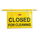 Rubbermaid FG9S1500YEL Site Safety Hanging Sign, 50w x 1d x 13h, Yellow