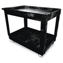 Rubbermaid RCP9T6700BLA Service/utility Cart, Two-Shelf, 24w X 40d X 31-1/4h, Black