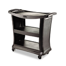 Rubbermaid RCP9T6800BK Executive Service Cart, Three-Shelf, 20-1/3w X 38-9/10d, Black