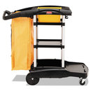 Rubbermaid RCP9T7200BK High Capacity Cleaning Cart, 21-3/4w X 49-3/4d X 38-3/8h, Black