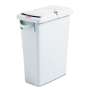 Rubbermaid FG9W2500LGRAY Slim Jim Confidential Document Receptacle w/Lid, Rectangle, 15.875gal, Lt Gray