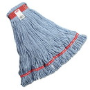 Rubbermaid Commercial HYGEN FGA11306BL00 Web Foot Looped-End Wet Mop Head, Cotton/Synthetic, Large Size, Blue, 6/Carton