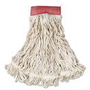 Rubbermaid RCPA153WHI Web Foot Wet Mop, Cotton/synthetic, White, Large, 5