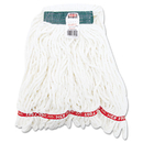 Rubbermaid RCPA21206WHICT Web Foot Shrinkless Looped-End Wet Mop Head, Cotton/synthetic, Medium, White
