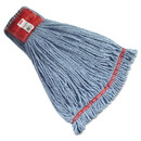 Rubbermaid Commercial HYGEN FGA25306BL00 Web Foot Wet Mop Heads, Shrinkless, Cotton/Synthetic, Blue, Large