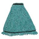 Rubbermaid FGA81206GR00 Web Foot String Mop Heads, Microfiber, Green, Medium, 1-in. Green Headband